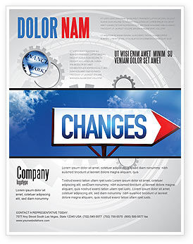 Way To Changes Flyer Template, 04676, Business Concepts — PoweredTemplate.com