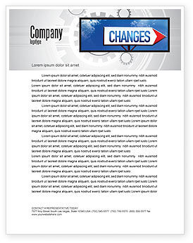 Business Concepts: Way To Changes Letterhead Template #04676