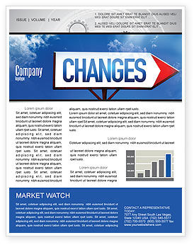 Business Concepts: Way To Changes Newsletter Template #04676