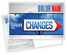 Business Concepts: Way To Changes Postcard Template #04676