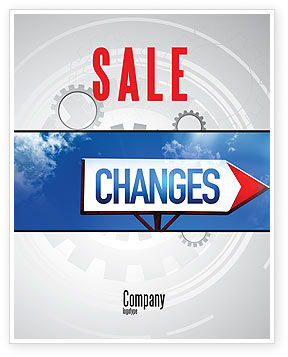 Way To Changes Sale Poster Template, 04676, Business Concepts — PoweredTemplate.com