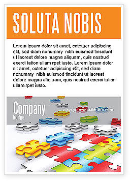 Business Concepts: Puzzle Diversity Ad Template #04680