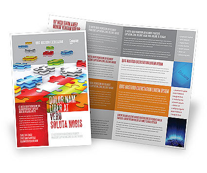 Puzzle Diversity Brochure Template, 04680, Business Concepts — PoweredTemplate.com
