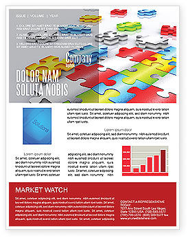 Puzzle Diversity Newsletter Template, 04680, Business Concepts — PoweredTemplate.com