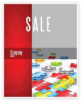 Puzzle Diversity Sale Poster Template, 04680, Business Concepts — PoweredTemplate.com