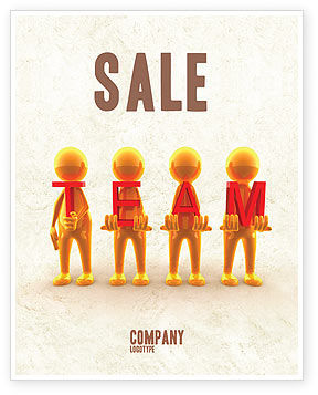 Consulting: Team Player Sale Poster Template #04682