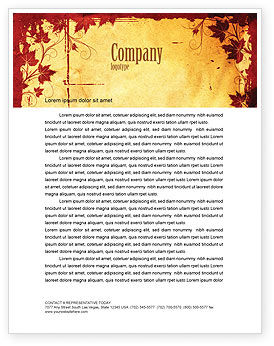 Vine Leaves Frame Letterhead Template, 04687, Abstract/Textures — PoweredTemplate.com