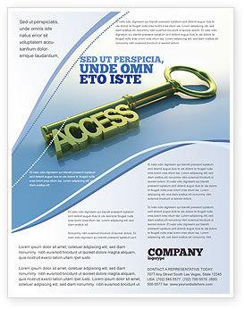 Access Key Flyer Template, 04689, Business Concepts — PoweredTemplate.com