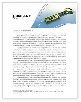 Business Concepts: Zugangsschlüssel Briefkopf Vorlage #04689