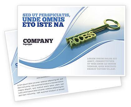 Business Concepts: Access Key Postcard Template #04689