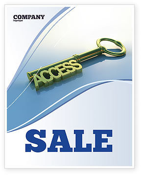 Access Key Sale Poster Template, 04689, Business Concepts — PoweredTemplate.com