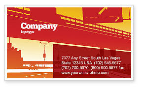 Construction: Road Way Business Card Template #04692