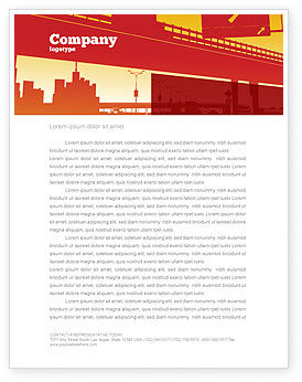 Construction: Road Way Letterhead Template #04692