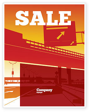 Road Way Sale Poster Template, 04692, Construction — PoweredTemplate.com