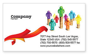Financial/Accounting: Private Incomes Business Card Template #04694