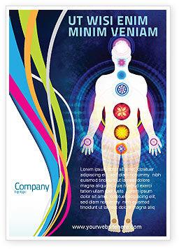 Body Chakras Ad Template, 04696, Medical — PoweredTemplate.com