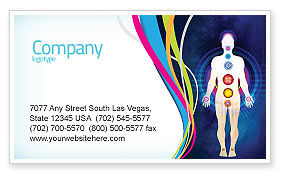 Medical: Body Chakras Business Card Template #04696