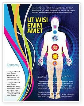 Body Chakras Flyer Template, 04696, Medical — PoweredTemplate.com