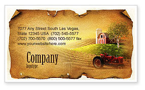 Life On The Farm Business Card Template, 04698, Agriculture and Animals — PoweredTemplate.com