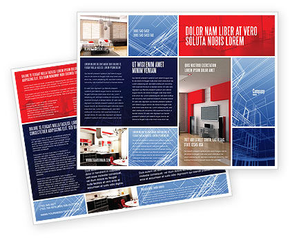 Interior Design In 3D Modeling Brochure Template, 04699, Construction — PoweredTemplate.com