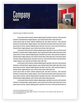 Interior Design In 3D Modeling Letterhead Template, 04699, Construction — PoweredTemplate.com
