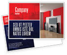 Construction: Interior Design In 3D Modeling Postcard Template #04699