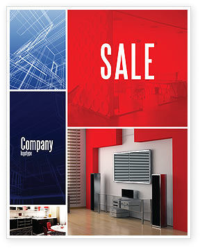 Interior Design In 3D Modeling Sale Poster Template, 04699, Construction — PoweredTemplate.com