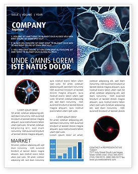 Neurons Newsletter Template, 04703, Medical — PoweredTemplate.com