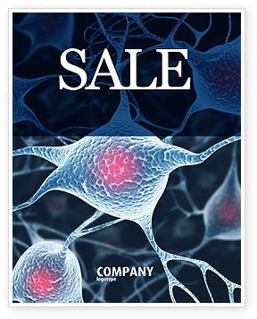 Medical: Neurons Sale Poster Template #04703