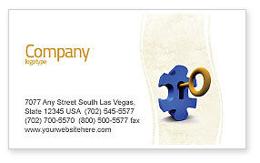 Key Puzzle Business Card Template, 04708, Consulting — PoweredTemplate.com