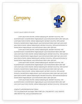 Key Puzzle Letterhead Template, 04708, Consulting — PoweredTemplate.com