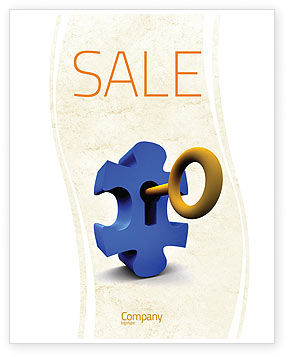 Key Puzzle Sale Poster Template, 04708, Consulting — PoweredTemplate.com