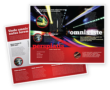 Long Exposure Brochure Template, 04717, Cars/Transportation — PoweredTemplate.com