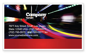 Long Exposure Business Card Template, 04717, Cars/Transportation — PoweredTemplate.com