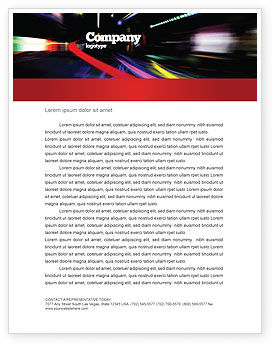 Long Exposure Letterhead Template, 04717, Cars/Transportation — PoweredTemplate.com