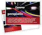 Cars/Transportation: Long Exposure Postcard Template #04717