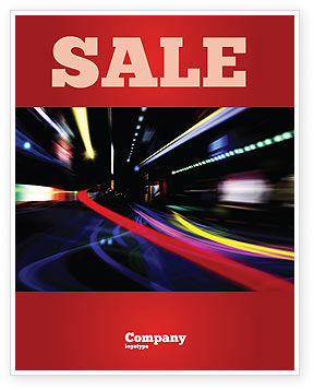 Long Exposure Sale Poster Template