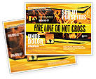 Careers/Industry: Fire Line Brochure Template #04736