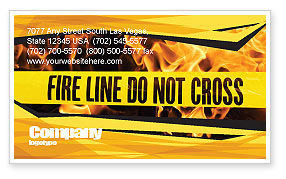 Careers/Industry: Fire Line Business Card Template #04736