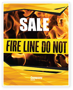Fire Line Sale Poster Template, 04736, Careers/Industry — PoweredTemplate.com