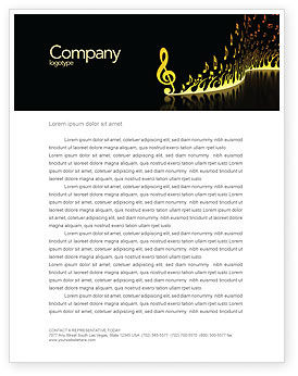 Modern Music Letterhead Template, 04739, Art & Entertainment — PoweredTemplate.com