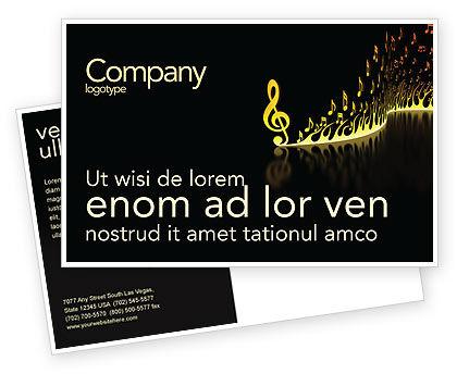 Modern Music Postcard Template, 04739, Art & Entertainment — PoweredTemplate.com