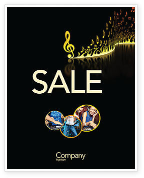 Modern Music Sale Poster Template