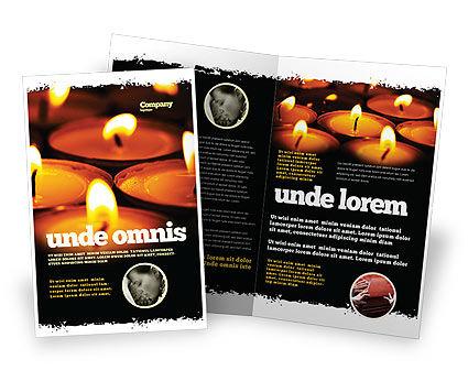 Religious/Spiritual: Modèle de Brochure de service religieux #04743