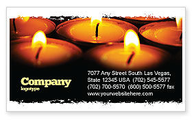Religious Service Business Card Template