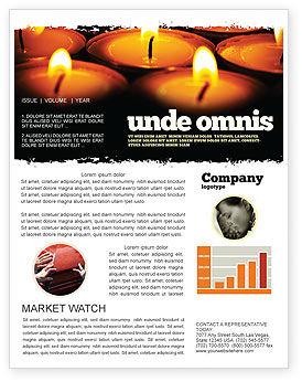 Religious Service Newsletter Template, 04743, Religious/Spiritual — PoweredTemplate.com