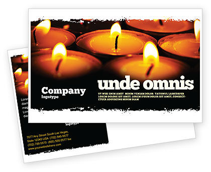 Religious/Spiritual: Religious Service Postcard Template #04743