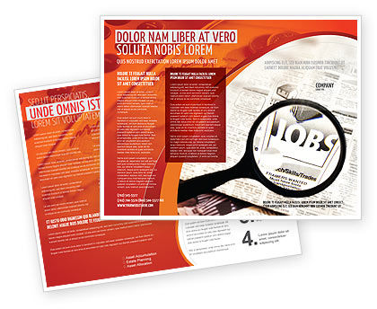 Jobs Brochure Template, 04745, Consulting — PoweredTemplate.com