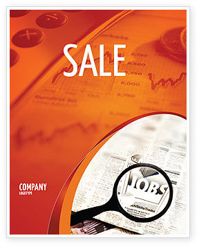 Jobs Sale Poster Template, 04745, Consulting — PoweredTemplate.com