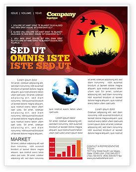 Flock Newsletter Template, 04746, Nature & Environment — PoweredTemplate.com